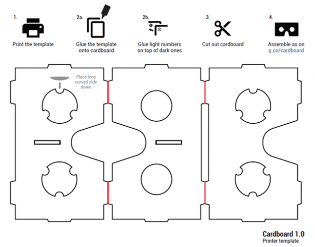 google cardboard  virtual reality is made of cardboard and