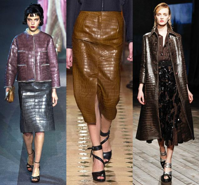 Image result for croco leather skirt