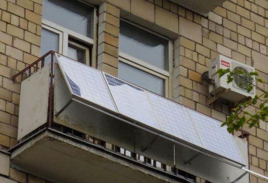Что будет, если поставить солнечную батарею на балконе.