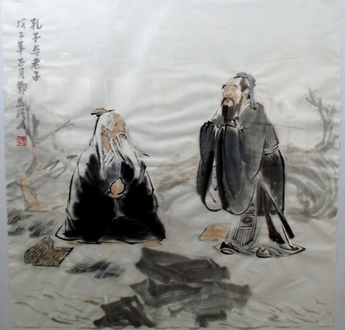 Image result for image of Lao Tzu and Confucius