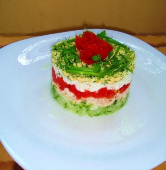 Легкие и вкусные салаты слоями рецепты