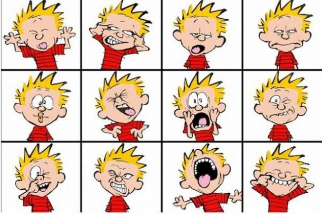 Emociones De Dibujos Animados Página 1