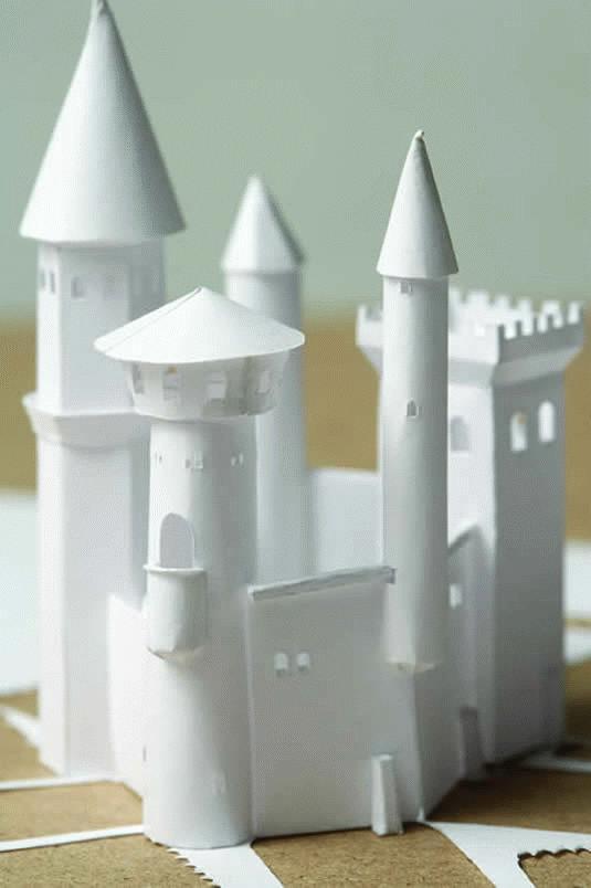 Объемный замок из бумаги