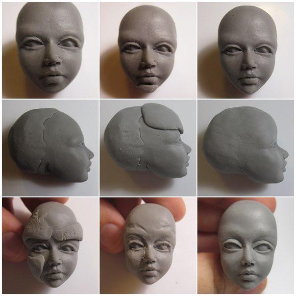 Мастер класс как сделать куклу из полимерной фото 936
