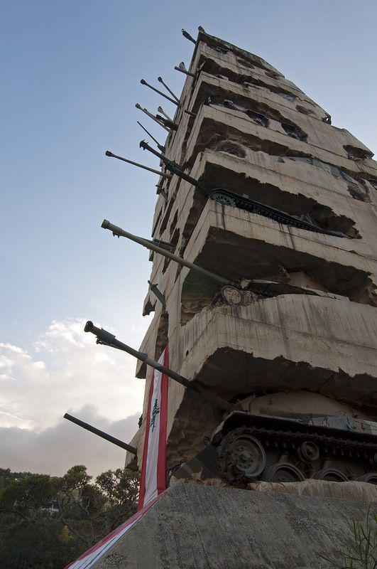 Tank Monument Quot Hope For Peace Quot In Beirut Page 1