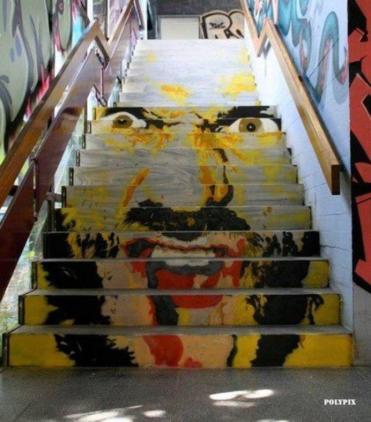 Escaleras con arte 76f12718db