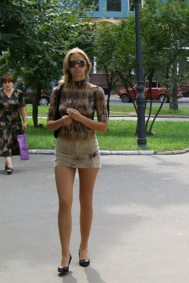 Фото девушек на улице частное