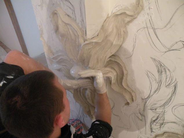 Лепка из гипса на стене своими руками фото 49