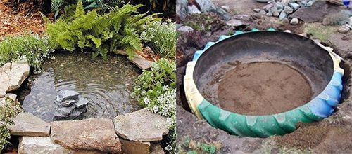C mo hacer un estanque decorativo de neum ticos viejos for Como hacer un estanque de agua