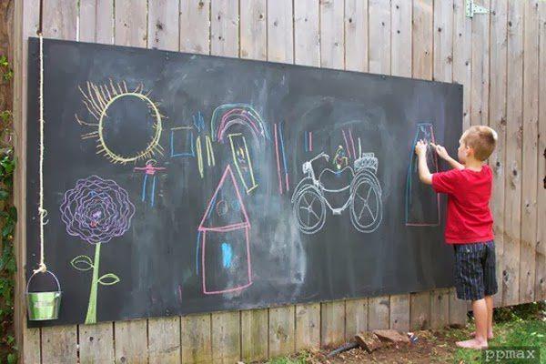 Как нарисовать рисунок на стене своими руками на улице