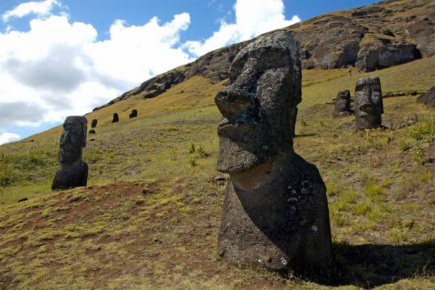 Tamaño Isla de Pascua de Cabezas Isla de Pascua