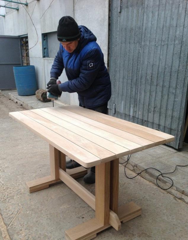 Сделать дубовый стол своими руками 62
