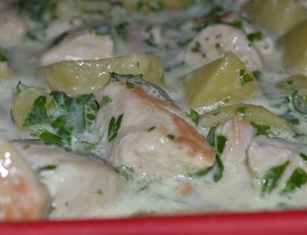Cazuela de patatas con pollo el original manera de for Cocinar 180 grados