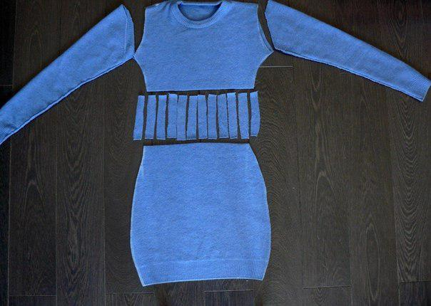 how to make a sweater dress