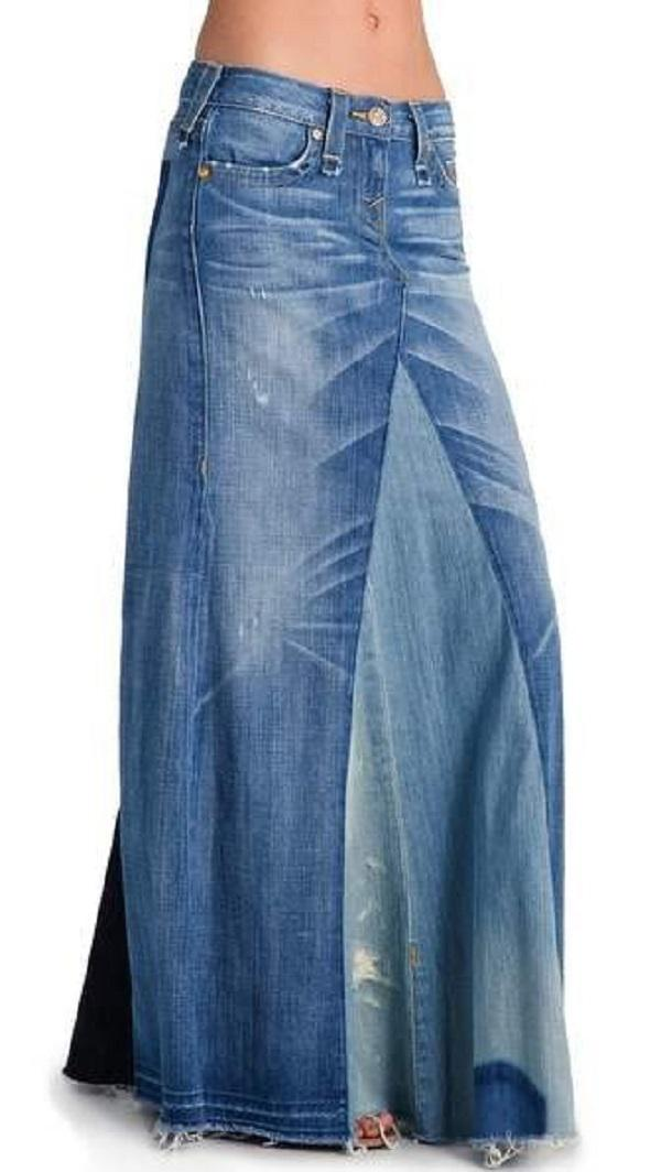 From old jeans get a great skirt. This idea deserves attention!. Page 2