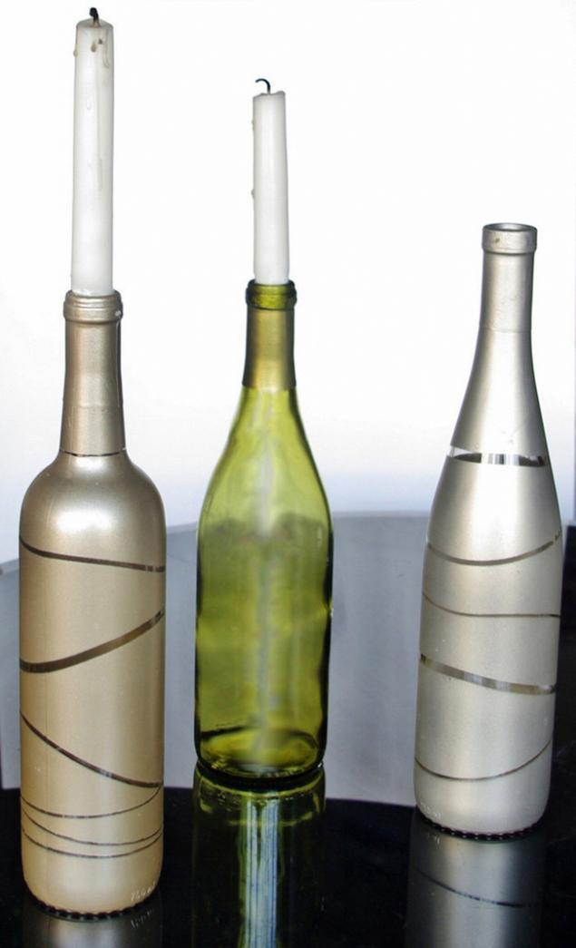Вазы из бутылок из вина