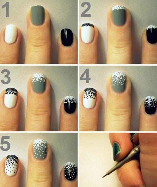 Простой дизайн ногтей коротких