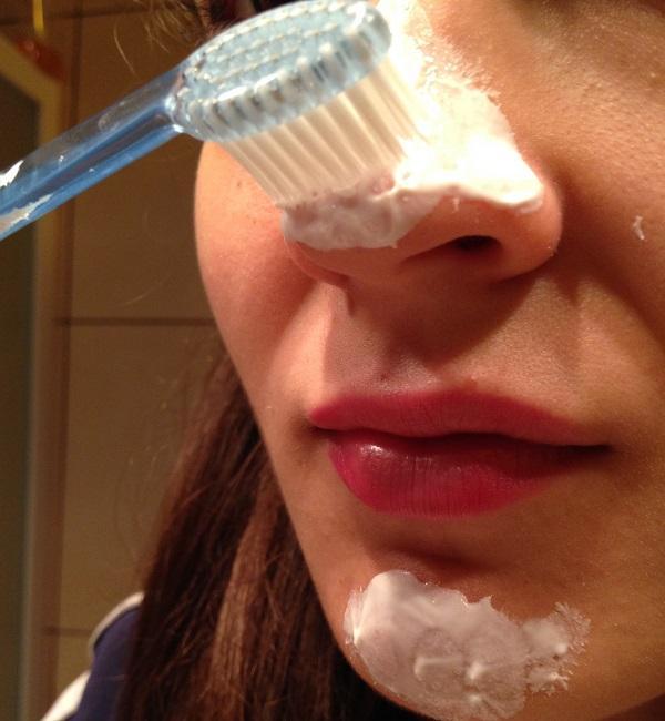 Маска от черных точек сода зубная паста
