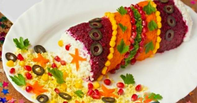 Оригинальное оформление салатов.фото