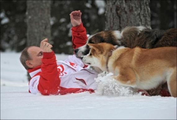 Vladimir Putin Dog Buffy Putin with their dogs ...