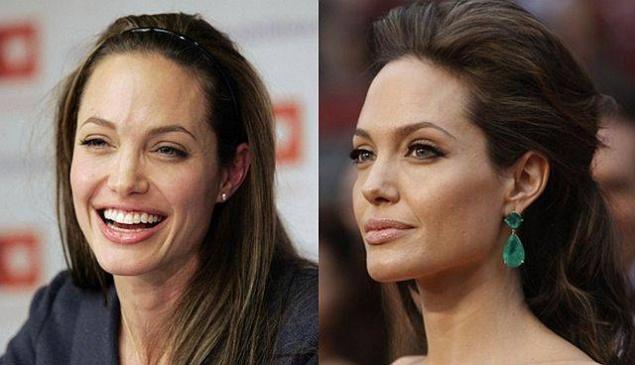 Снимки актрис с макияжем на лице и без него  31393