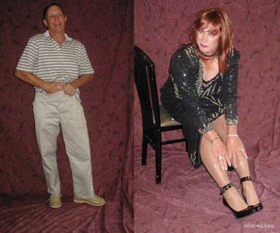 одновременно фото переодевания мужчины в женщину воплощает