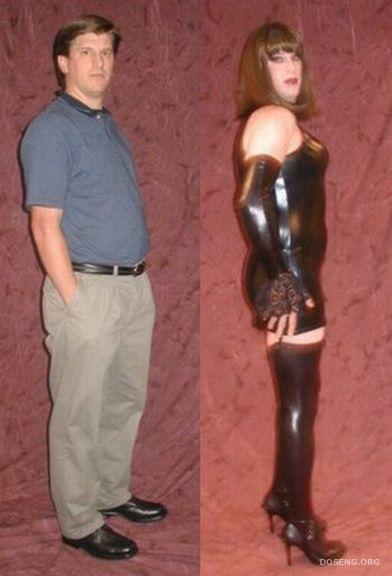 Рассказ переодевание в женский образ сапоги