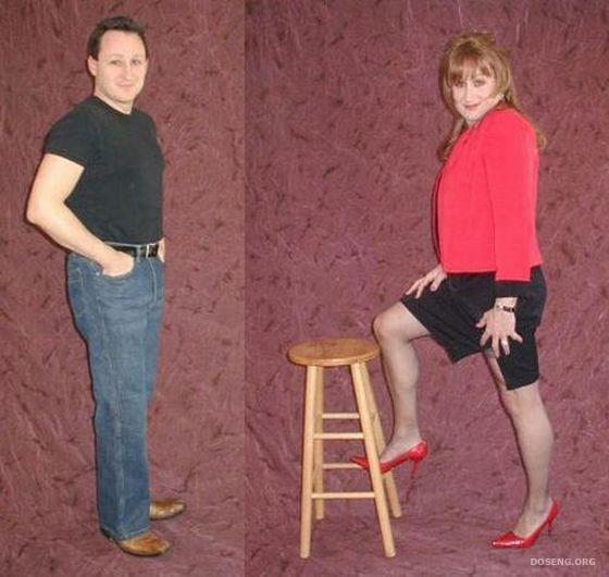 Как девушке переодеть парня в женскую одежду 12