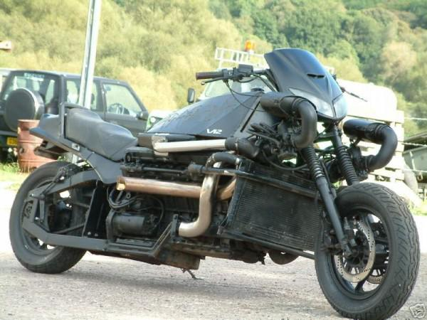 Homemade Motorcycle With Engine V12 Twin Turbo 10 Photos