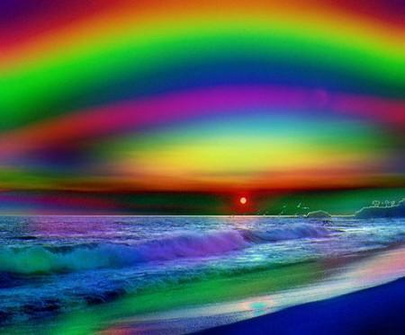 Открытка с радугой