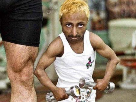 The world's smallest bodybuilder