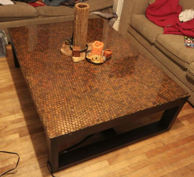Coffee Table Made Of Coins Page 1