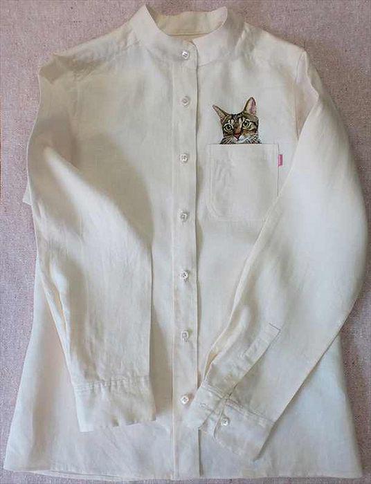 Вышивка с котами примета 26