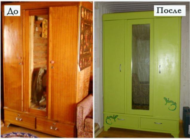 Как сделать из старого шкафа новый шкаф