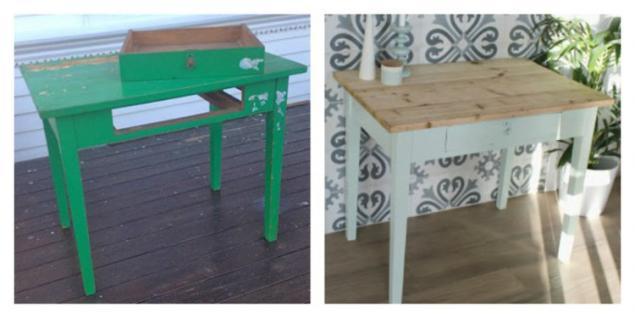 Как обновить стол своими руками фото до и после 97