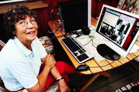 fastest internet speed in the world old lady