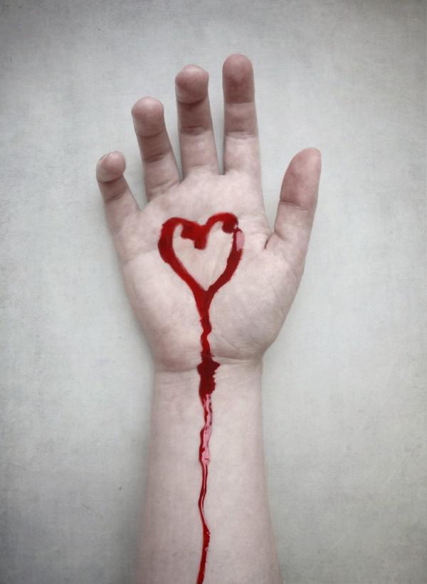 Днем рождения, картинки с кровью на руках и надписями