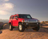 красный автомобиль джип HUMMER H1  № 344723 бесплатно