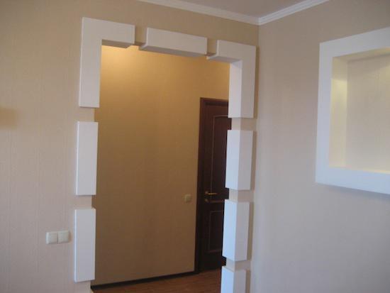 Декор дверных проемов без двери
