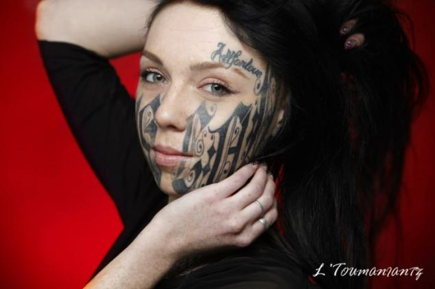 15 most bizarre people in russia page 2 for Girl with star tattoos on face