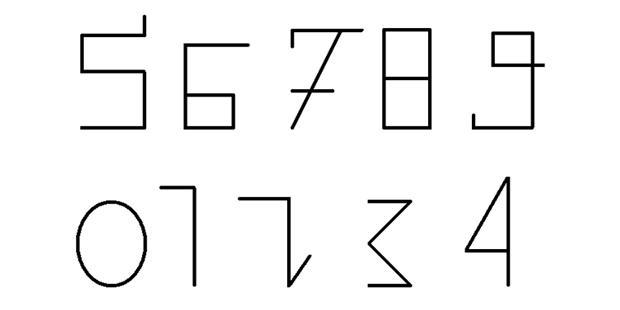 阿拉伯数字字体下载_纹身图案图片
