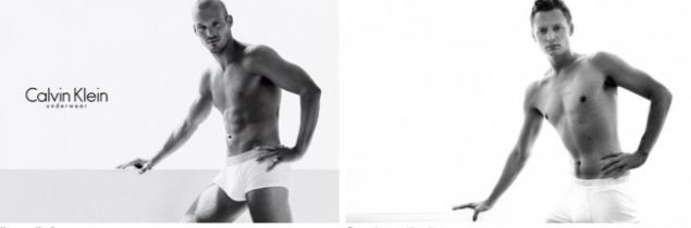 These men are not models, but in his underwear by Calvin ...