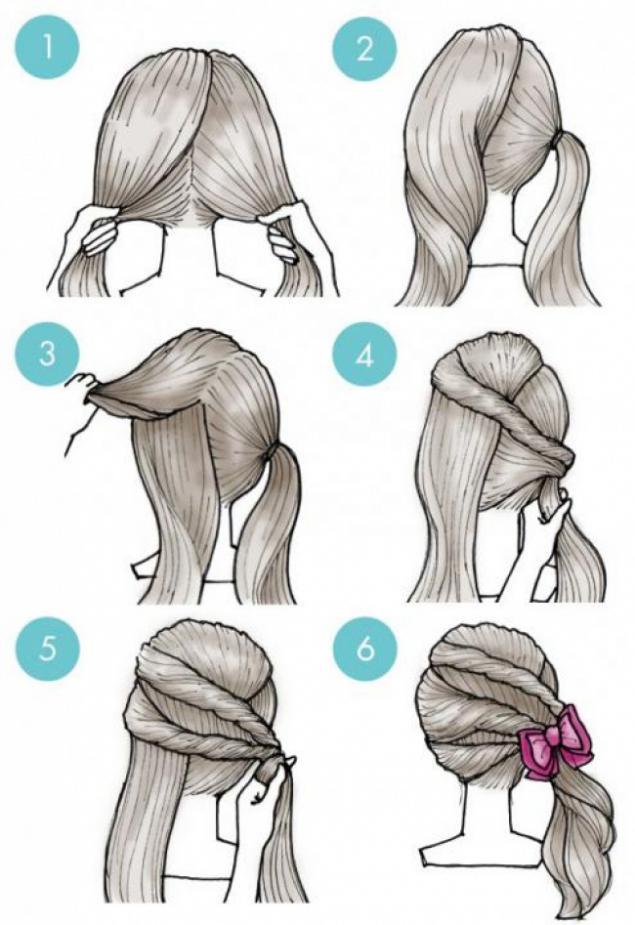 Как сделать простую прическу на средние волосы