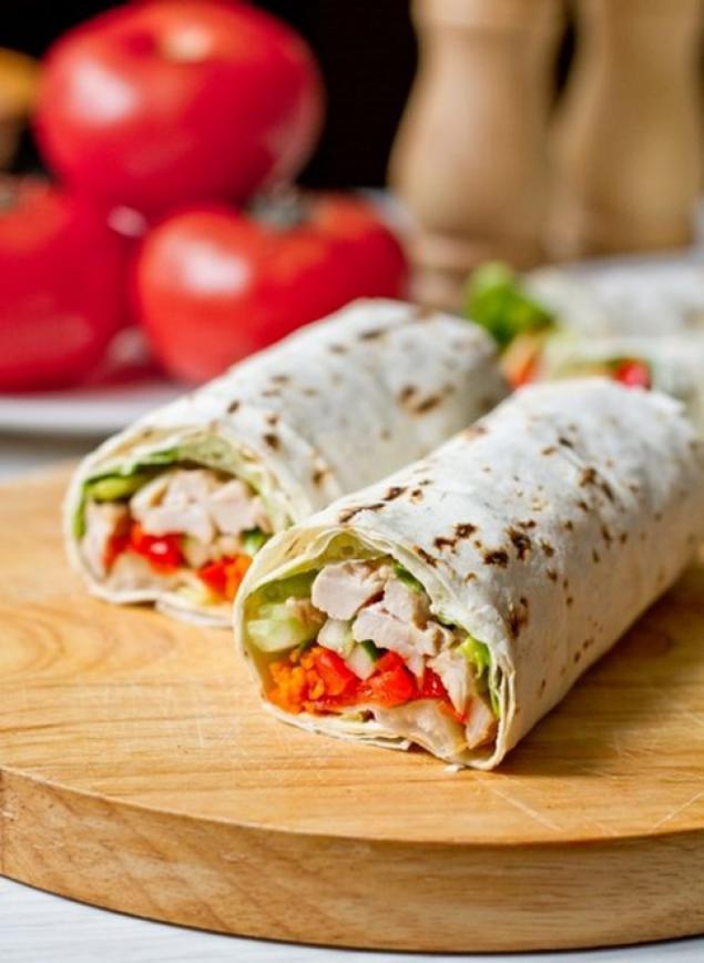 Лаваш с курицей и овощами рецепт с пошагово в