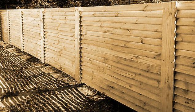 Забор из дуба своими руками 55