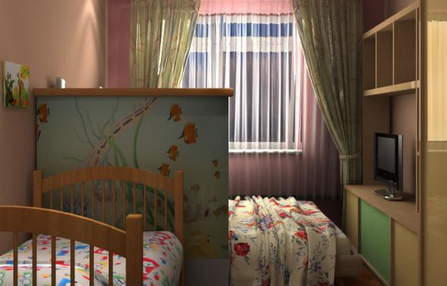 Фото как разместиться в одной комнате с двумя детьми