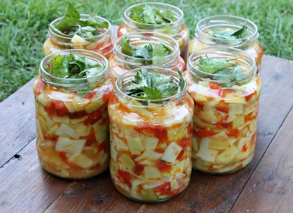 Салат из кабачков на зиму фото