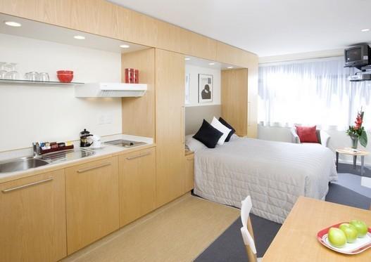 Дизайн квартиры студии 40 кв. м. Современный стиль в серых ...