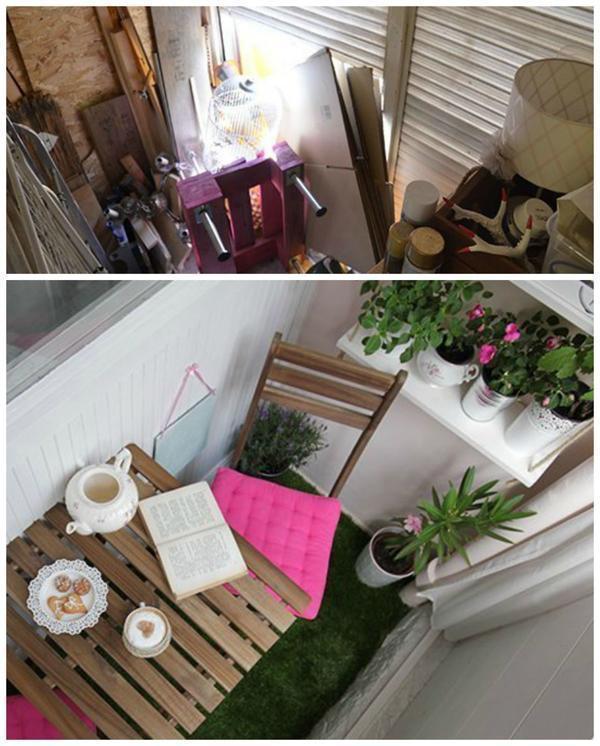 Маленькие балконы: 5 переделок и 10 идей для вдохновения - с.