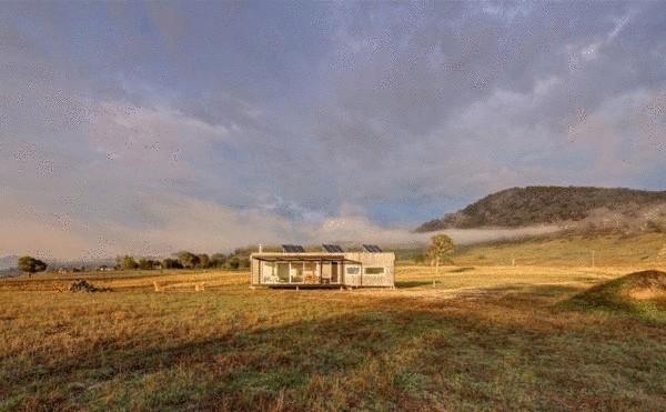 Небольшой дом в глуши Австралии от Modscape